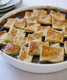 Mushroom and spinach pie