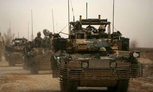 British army soldiers on patrol in Afghanistan