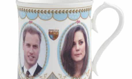 Souvenir mug featuring Prince William and Kate Middleton