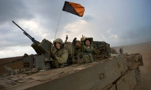 Israeli soldiers during Gaza offensive
