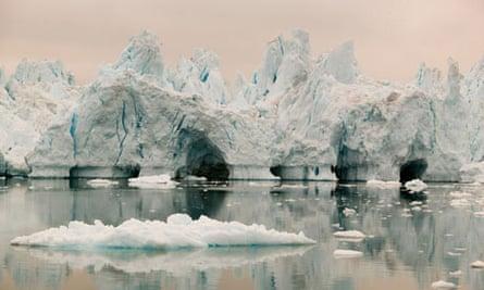 Icebergs from the Jacobshavn glacier, Greenland