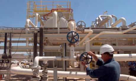 Oil worker at the Tawke oil field in Iraq
