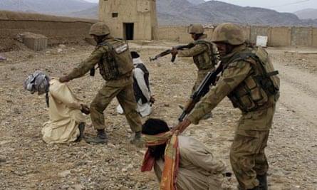 Pakistan troops in Waziristan