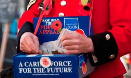 Collecting for the Royal British Legion poppy appeal