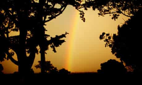 sunset at katine uganda