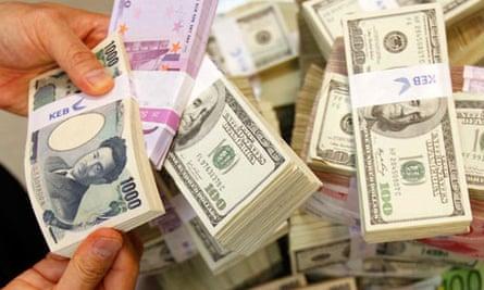 Korean and US banknotes