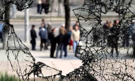 Election protest in Moldova in 2009