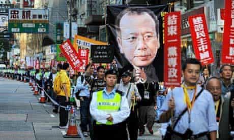 Hong Kong protest to free Liu Xiabobo