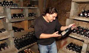 The wine cellar of Chef and food writer Richard Olney