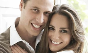 Close Up offical portrait to mark the engagement of Prince William and Kate Middleton