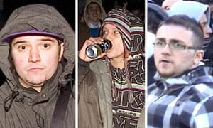 Photographs released by police of some of the people they want to talk to about the protests