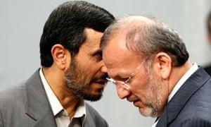 Mahmoud Ahmadinejad and Manouchehr Mottaki