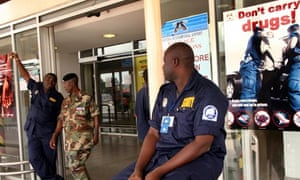 Security guards at Accra airport in Ghana