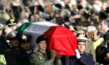 The funeral of Italian intelligence officer Nicola Calipari