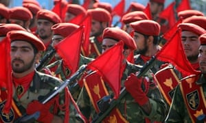 Soldiers of Iran's elite Revolutionary G