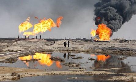 The Rumala oil field, south of Basra