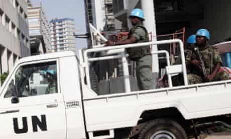 UN forces on patrol in Abidjan, Ivory Coast