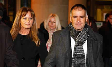 Tommy Sheridan with his wife Gail leave Glasgow high court