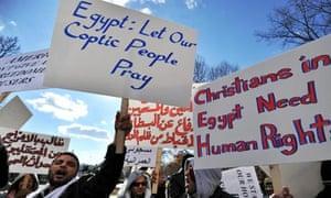 Egyptian Coptic Christian dmonstration