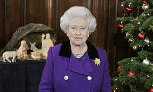 Britain's Queen Elizabeth records her Christmas Day broadcast in London
