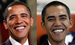 Combination photo of Barack Obama and a photographer who resembles him