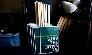 arts cuts placards