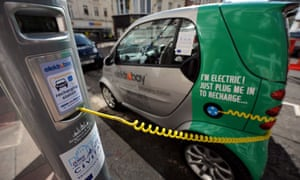 An electric vehicle charging point in Brighton
