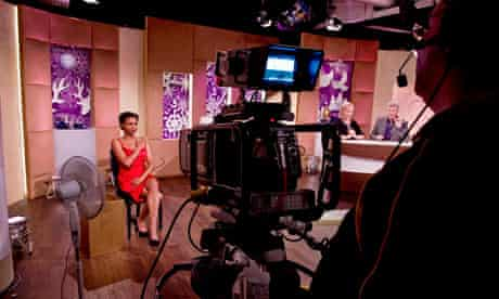 Inside the QVC studio
