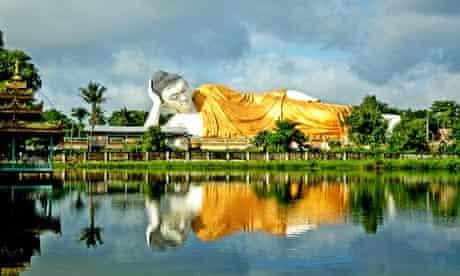 Hidden treasure: a statue of Buddha