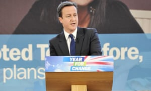 David Cameron during an election campaign in London