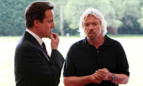 David Cameron and Richard Branson