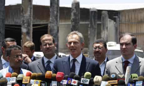 Tony Blair visiting Gaza, June 2009