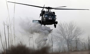 Medical helicopter in Helmand province