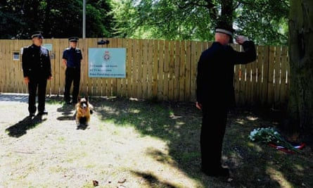 Police dog handler Mark Johnson