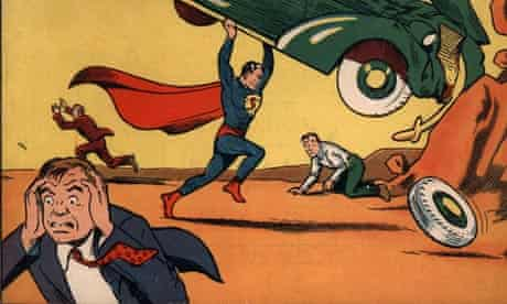 """The June 1938 cover of """"Action Comics"""" that first featured Superman"""