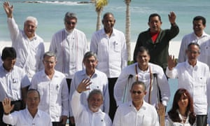 Latin American leaders at the Rio Group in Cancun