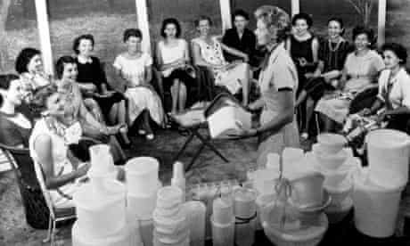 A Tupperware party in the 1950s