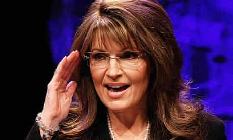 Sarah Palin addresses attendees at the national tea party convention in Nashville, Tennessee.
