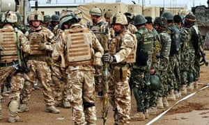 British and Afghan soldiers prepare for Operation Moshtarak