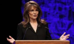 Sarah Palin's hand shows her crib notes