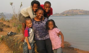 lola-shoneyin-and-children