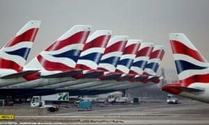 British Airways Aircraft At London Heathrow Airport