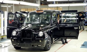 TX4 taxi being manufactured