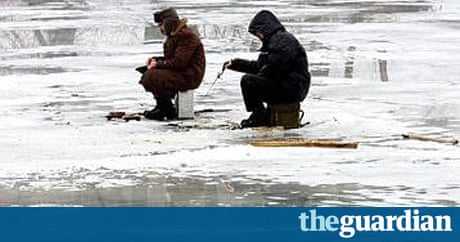 Russian love affair with ice fishing shows no sign of for Ice fishing expo