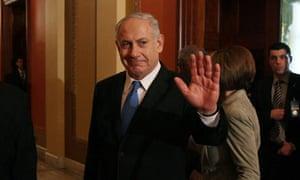 Isaareli prime minister Binyamin Netanyahu in congress