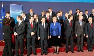EU heads of state at an EU summit in Brussels
