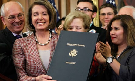 Nancy Pelosi Attends Signing Of Health Care Reform Bill