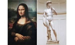 Leonardo's Mona Lisa and Michelangelo's David