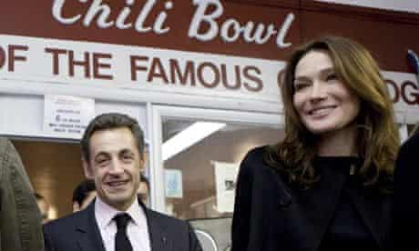 French President Nicolas Sarkozy and wife Carla Bruni