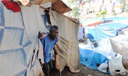 haiti quake camp